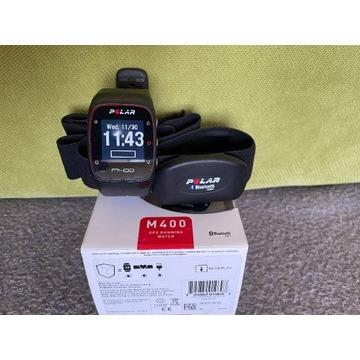 Zegarek sportowy Polar M400 czarny + pas H7 IGŁA