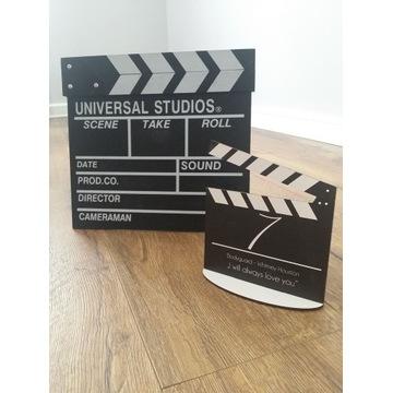 Klapsy filmowe - numery stołów