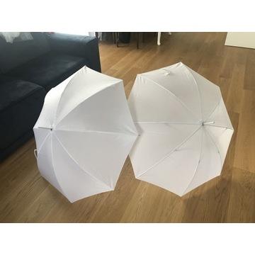 Parasolki białe (2szt)