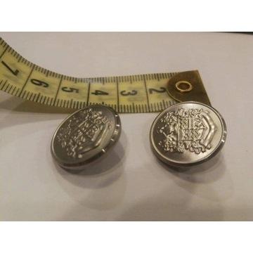 Metalowe guziki ciekawy wzór na nóżce 20 mm