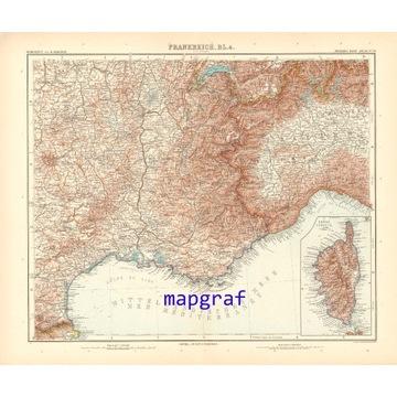 FRANCJA PD-WSCH KORSYKA stara mapa z 1906 roku 30