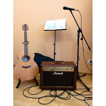 Gitara elektroakustyczna + wzmacniacz + dodatki