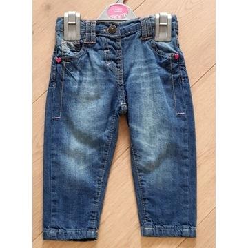 Spodnie jeansy dziewczęce rozmiar 80/86