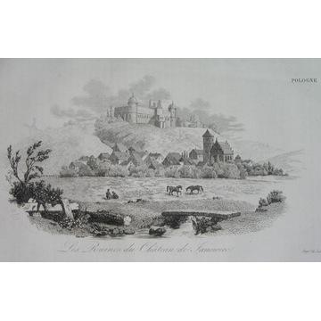 1836 oryginał JANOWIEC zamek PUŁAWY Lublin