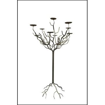 Świecznik złoty metalowy drzewko Ręcznie robione