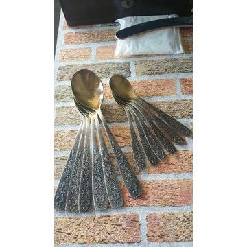 Stare posrebrzane łyżki