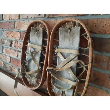 Rakiety śnieżne stare drewniane ,sygnowane