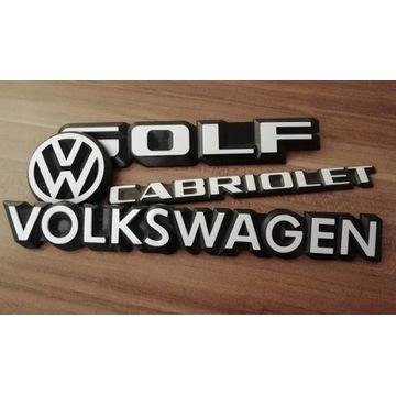 Naklejki na emblematy znaczek VW Golf I mk1 cabrio