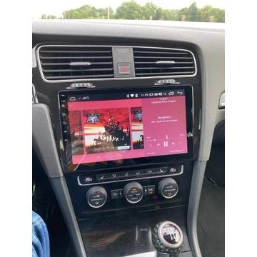 "Radio nawigacja android VW Golf 7 2013-2017 10"""