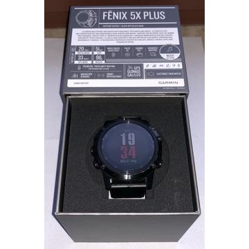 Garmin Fenix 5X Plus Sapphire czarny gwarancja