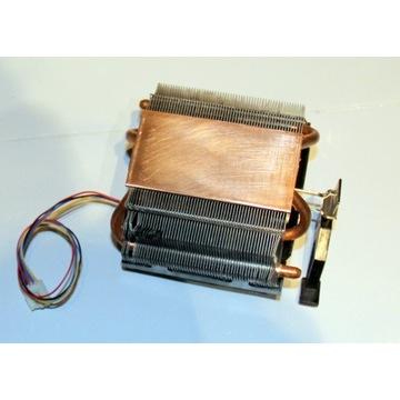 Radiator procesora duże pole miedzi! + ciepłowody!