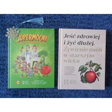 Książki LIDL - SUPERMOCNI i Jeść zdrowiej (folia)