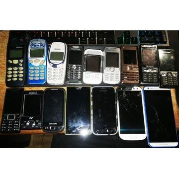 13 uszkodzonych i 3 sprawne telefony