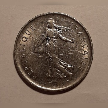Franja  5 Francs 1971  KM # 933
