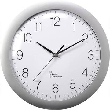 Zegar ścienny analogowy sterowany radiowo