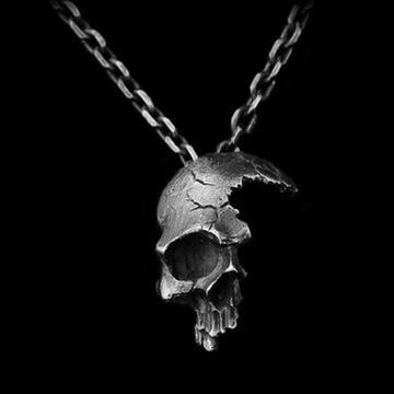 """Naszyjnik Rock Gothic Bikers """" Pół czaszki """""""