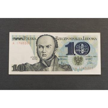 BANKNOT 10 ZŁOTYCH, PRL, 1982, SERIA A