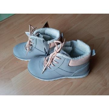 Buty zimowe dziewczęce r.35