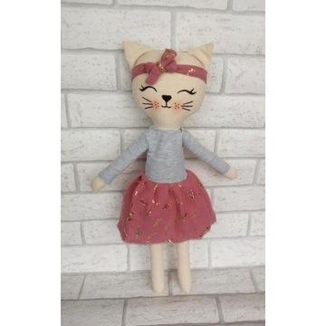 Kotek maskotka handmade 47 cm roczek prezent