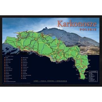 Mapa Zdrapka Karkonosze Polskie