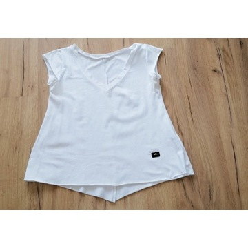 bluzka damska biała noszona używana fetysz