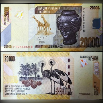 CONGO DEMOCRATIC 20.000 Francs 2013 UNC P104b