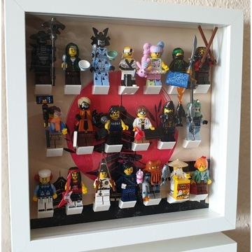 LEGO MINIFIGURES seria Ninjago 71019 KOMPLET+ramka