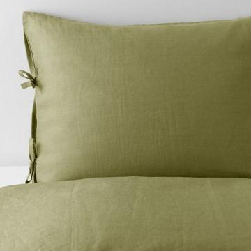 Pościel LEN 100% Puderviva Ikea 200/200cm, zieleń