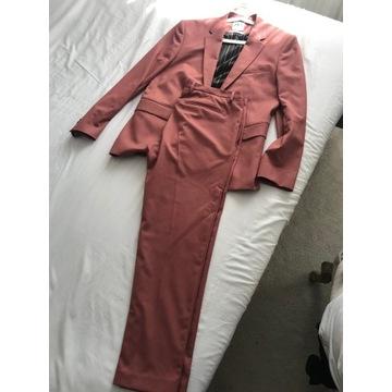 zara męski garnitur łososiowy pastelowy XL 52 42