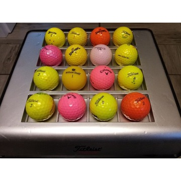 Piłki golfowe kolorowe firmowe.