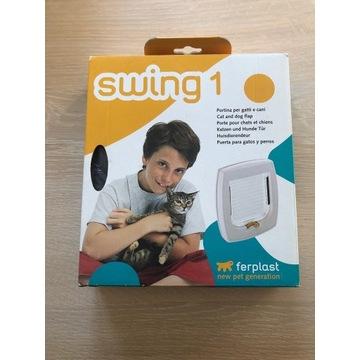 Drzwiczki dla psa lub kota Ferplast Swing 1 brąz