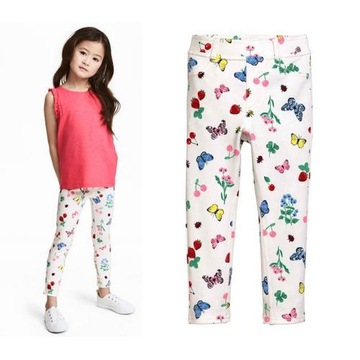 H&M dżersejowe tregginsy spodnie 140