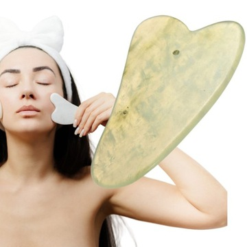 Płytka do masażu twrzy gua sha