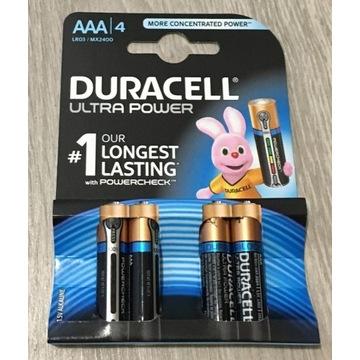 Baterie Duracell Ultra Power aaa z testerem 4szt
