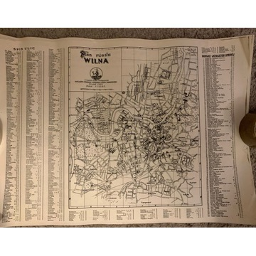 Plan Miasta Wilna 1936 reprint