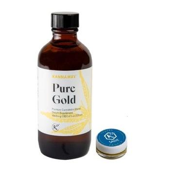 Olej konopny Kannaway Pure Gold CBD 66,5% + Salve