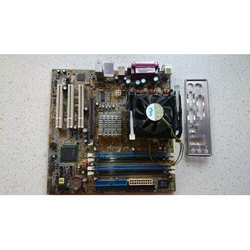 Płyta główna ASUS P4P800-VM, Pentium 4 3GHz, AGP