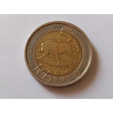 Obiegowa moneta 5 Rand 2015 r