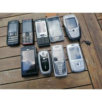 Telefony większość sprawna + akcesoria ze zdjęć