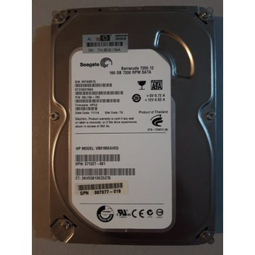 "Seagate 3,5"" 160GB błedy SMART"