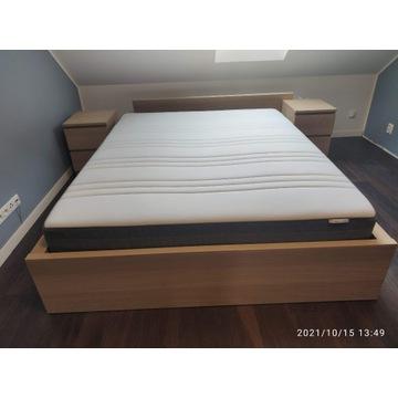 Łóżko IKEA MALM 160x200 z materacem i komodami