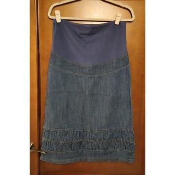 Spódnica ciążowa jeans za kolano r. S stan BDB