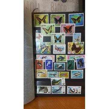 Kolekcja 190 znaczków pocztowych z lat 70/80/90