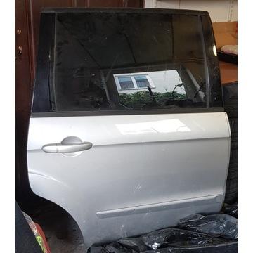 kompletne drzwi srebrne Ford Galaxy Mk2 prawy tył