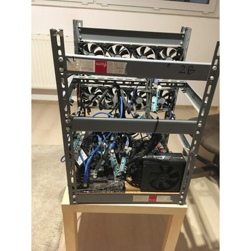 Koparka kryptowalut na 12 kart GPU - stelaż