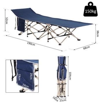 Łóżko polowe kempingowe turystyczne 150kg