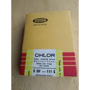 Papier amatorski stykowy CHLOR FOTON