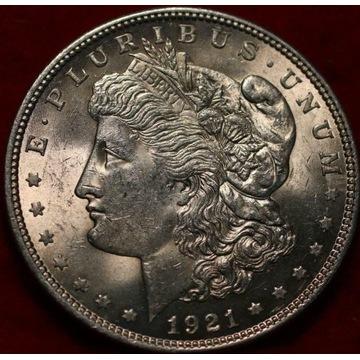 1 dolar USA - Morgan Dollar 1921 - stan menniczy