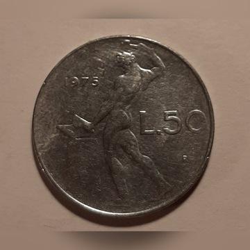 Włochy 50 Lire 1975 KM# 95.1
