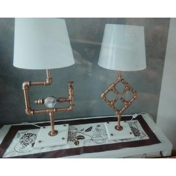 Lampa LOFT industrialna z rur hydraulicznych